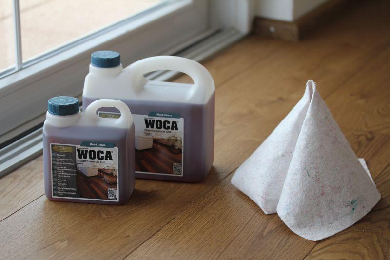 Die Holz-Öle von Woca sind bekannt für ihre wohnbiologische Unbedenklichkeit